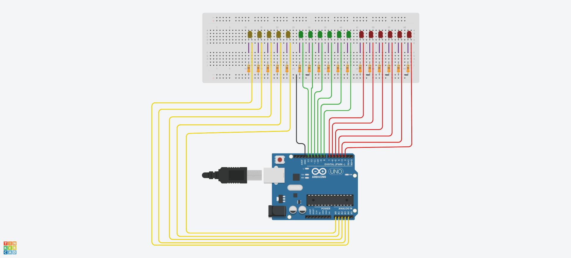 Diagrama Reloj Binario con Arduino