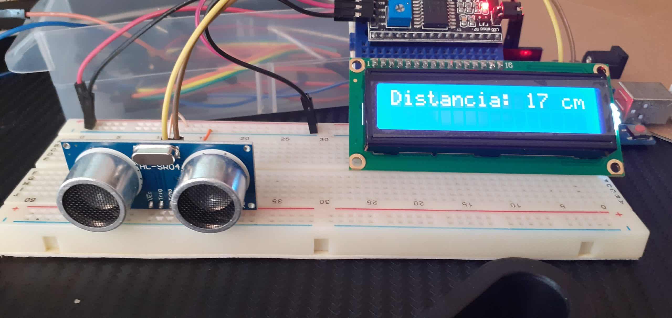 Proyecto Arduino, HC-SR04 y Pantalla LCD