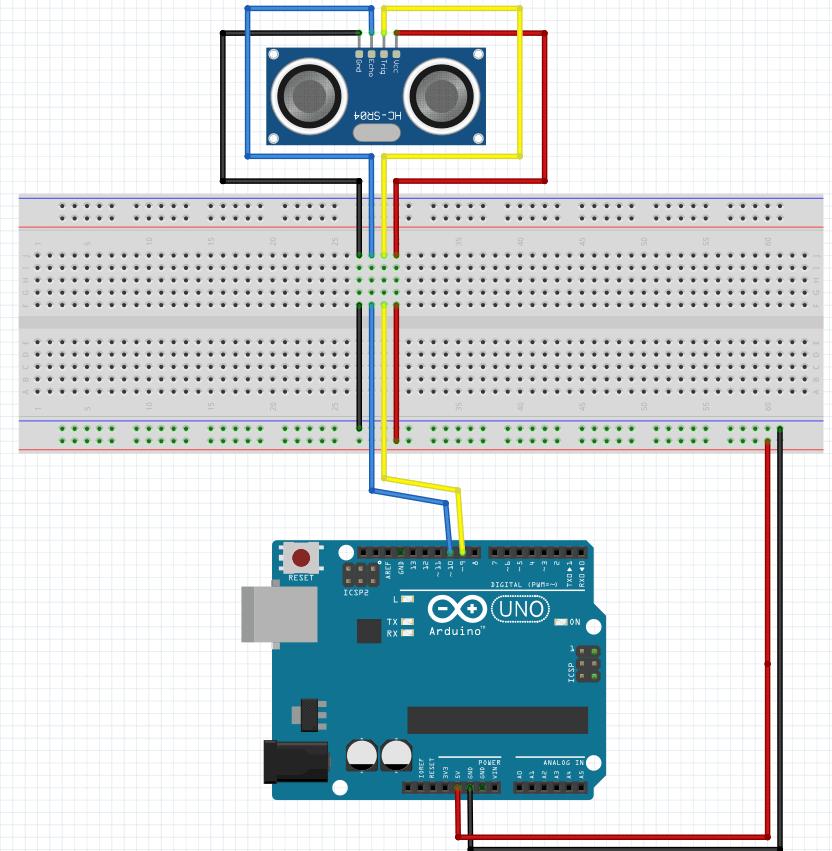 Crea un medidor de distancia con el sensor hc-sr04