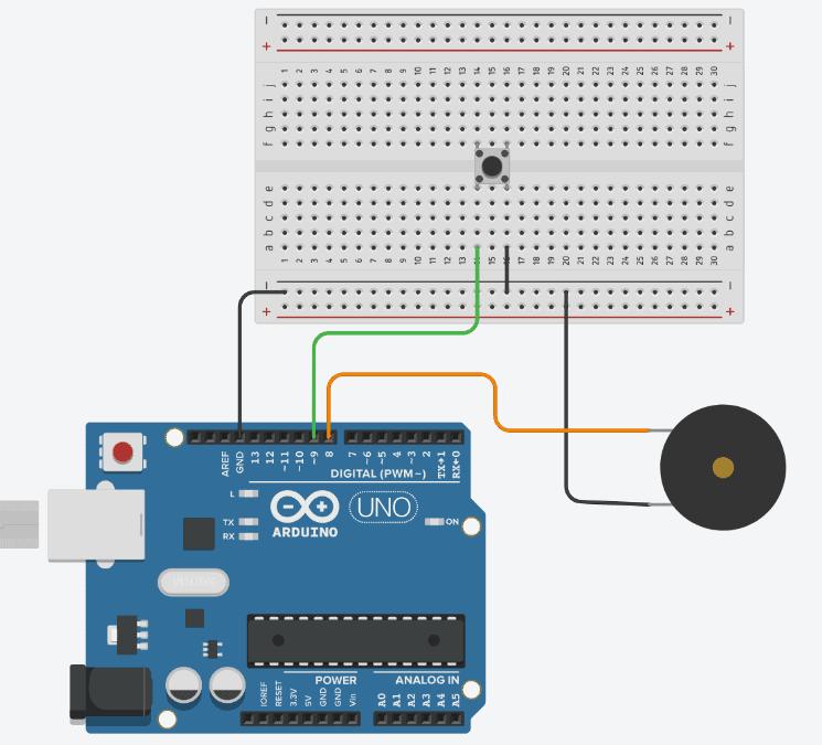 Diagrama de conexión para crear un reproductor de música con Arduino